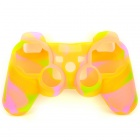 Protective Soft Silicone Case for PS3 Controller - Yellow + Green + Pink