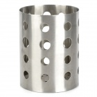 Cylinder Shaped Stainless Steel Chopsticks Holder - Silver