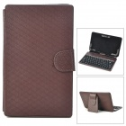 USB Wired Keyboard w/ PU Leather Case for Yuandao N12 / Onda V702 / Ainol NOVO7 / NOVO8 - Chocolate