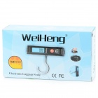 1.6''LCD Green Backlight Electronic Handheld Hanging Luggage Scale - Black + Red (50KG / 1xCR2032)