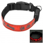 Adjustable Reflective Red Light LED Strip Pet Safety Collar - Red (Size-M / 2 x CR2032)