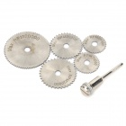 High Speed ​​Steel Mini Saw Blades Dorn + Werkzeug-Set - Silber