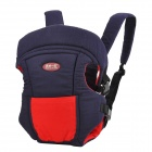 TianCaiYiDing TCB0406 Cotton Front / Back Baby Infant Sling Wrap Carrier - Deep Blue + Red