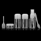 JOYTOUR JT2043 Travel PVC + PET Cosmetic Separate Storage Bottles Set - Transparent + White