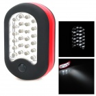 Handy 2-mode 27 LEDs Camping Lamp w/ Folding Hook - Red + Black (3 x AAA)