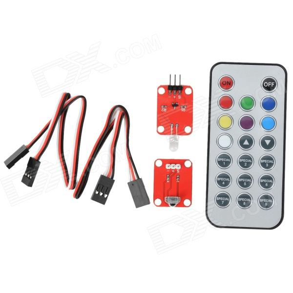 Фото - OPENJUMPER OJ-XM1134 Infrared Receiver Remote Control Module Set - Red chunghop rm l7 multifunctional learning remote control silver
