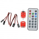 OPENJUMPER OJ-XM1134 Infrared Receiver Remote Control Module Set - Red