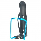 Compact Aluminum Alloy + Plastic Bottle Holder Frame for Bike - Schwarz + Blau