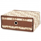 H2XSD Multi-Functional Folding Drawer Style Goods Storage Box - Brown + Beige