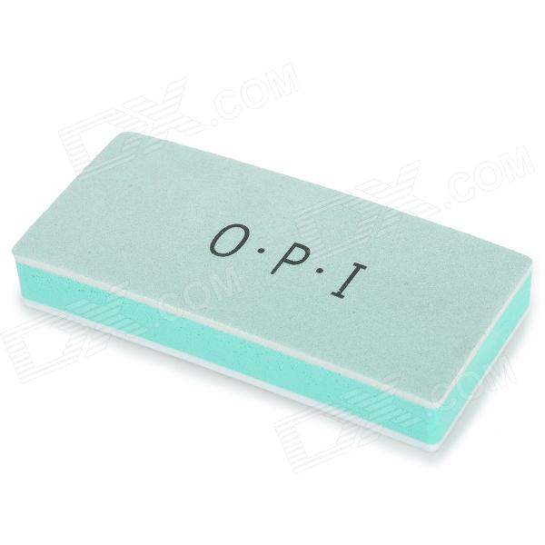 OPI OPI08 Sponge Dual-Side Nail Care Buffing File - Green + White