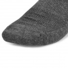 Outdoor Sports Quick Dry Cotton Socks - White + Deep Grey (2 Pairs)