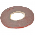 LY4-3 PET Car Decoration Self-adhesive Tape - Red + White (6mm x 30m)