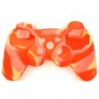 Protective Soft Silicone Case for PS3 Controller - Yellow + Red