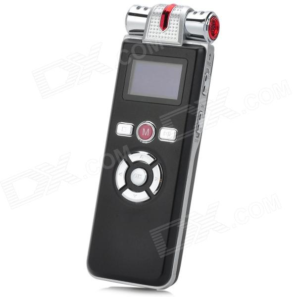 T-80 1 LCD Digital USB Rechargeable Voice Recorder / MP3 Player / USB Flash Drive - Black + Silver