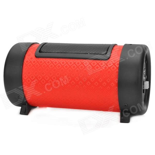 01 ABS Motorcycle Super Bass MP3 Speaker w/ USB / SD + Remote Control - Black + Red (1 x CR2025)