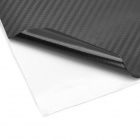 Universal DIY PVC Carbon Fiber Decorative Car Sticker - Black (30 x 127cm)