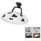 Creative Mini ABS Household Trash Bin Cover / Rubbish Bag Holder w/ Suction Cup - White + Black
