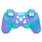 Protective Soft Silicone Case for PS3 Controller - Green + Purple