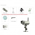 "EYE SIGHT ES-IP615IW P2P 1/4"" CMOS 0.3MP Surveillance Wi-Fi IP Camera w/ 24-IR LED - Silver"