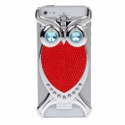 Fashionable Owl Style Protective Back Case for Iphone 5 - Red + Silver