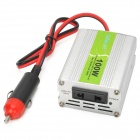 100W 10~15V to 220V Aluminum Alloy Car Power Inverter w/ Adapter - Silver
