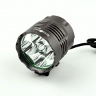 NITEFIRE NFC-50 2200lm 3-Mode Cool White Bicycle Light w/ 5 x Cree XM-L T6 - Deep Grey (4 x 18650)
