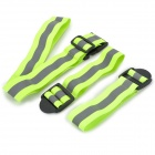YFY-68 Outdoor Sports Security Reflective Waist Band + Wrist Straps - Fluorescent Green + Grey