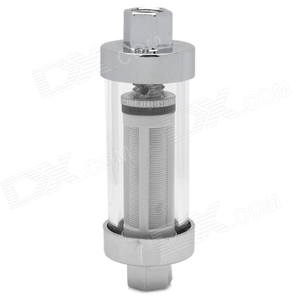 Universal Aluminum Alloy + Glass Scooter Motorcycle Fuel Filter Set - Silver