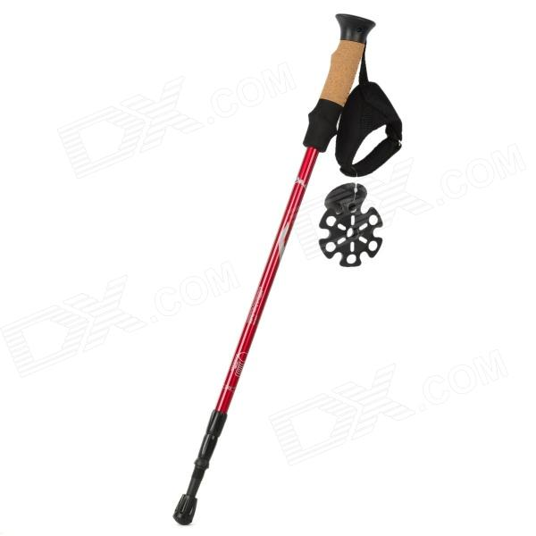 RYDER Shockproof Retractable Aluminum Alloy Hiking Pole Alpenstock - Black + Red от DX.com INT