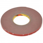 LY4-2 PET Car Decoration Self-adhesive Tape - Red + White (10mm x 30m)