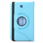 Lychee Pattern 360 Degree Rotation PU Leather Case for Samsung Galaxy Tab 3 P3200 - Sky Blue