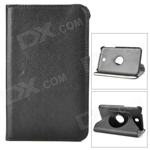 Protective 360 Degree Rotation PU Leather Case for Samsung Galaxy Tab 3 P3200 - Black protective 360 degree rotation pu leather case for samsung p6220 brown