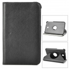 Protective 360 Degree Rotation PU Leather Case for Samsung Galaxy Tab 3 P3200 - Black