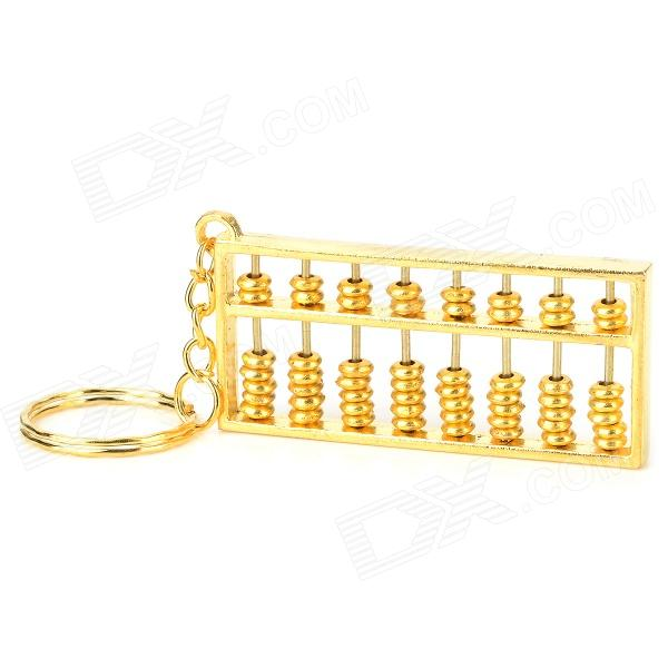 Creative 8 Abacus Coppering Keychain - Golden