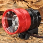 LetterFire LF-10 600lm 3-Mode White Zooming Bike Headlamp w/ Cree XM-L T6 - Red + Black (4 x 18650)