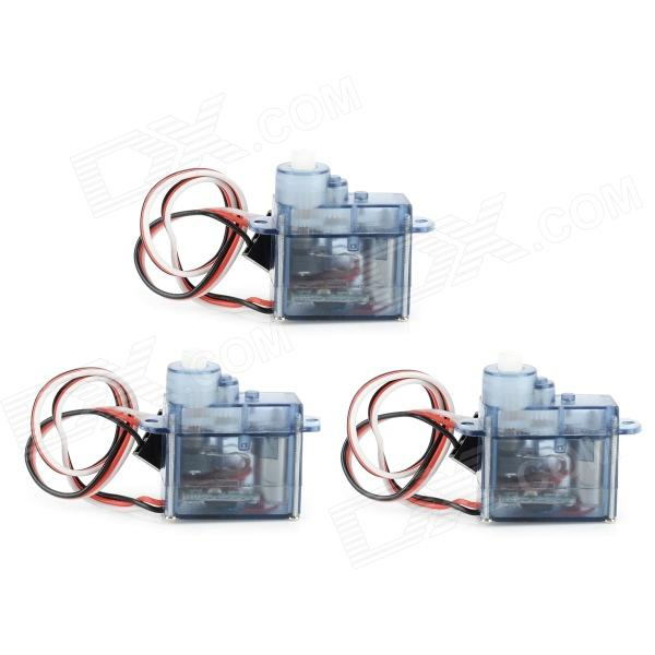 Replacement 3.7g Digital Servo for R/C Helicopter - Grey + White (3 PCS)