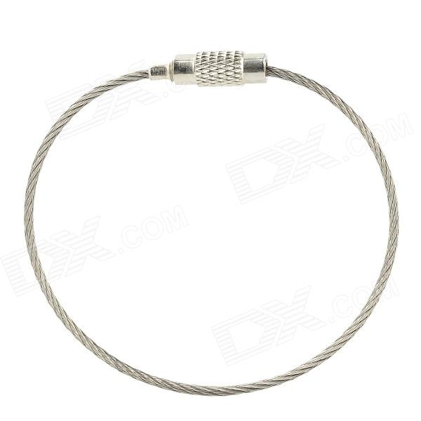 Steel Wire Circle Keychain - Silver