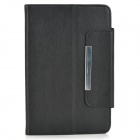 "Universal Lychee Pattern Protective PU Leather + TPU Case for 7"" Tablet PCs - Black"