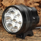 LetterFire LF-70 1800lm 3-Mode White Bicycle Headlamp w/ 7 x Cree XM-L T6 - Black (4 x 18650)