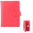 Stylish Protective Cow Leather Case for Kindle Touch - Red