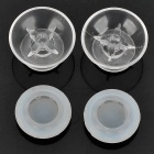 Replacement ThumbStick Joystick Caps Set for Xbox 360 - Transparent + White (Pair)