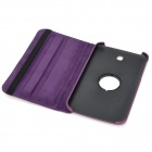 Protective 360 Degree Rotation PU Leather Case for Samsung Galaxy Tab 3 P3200 - Purple