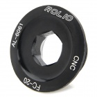 ROLIO Aluminum Alloy Crank Cover Bottom Bracket Screw for Bicycle - Black