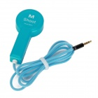 M Shoot Self-Timer Camera Remote Control for Iphone 4 /4S / 5 - Blue (91cm-Cable / 3.5mm Plug)