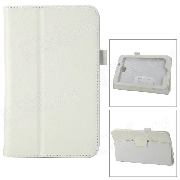 Protective PU Leather Case for Samsung Galaxy Tab 3 P3200 / P3210 - White