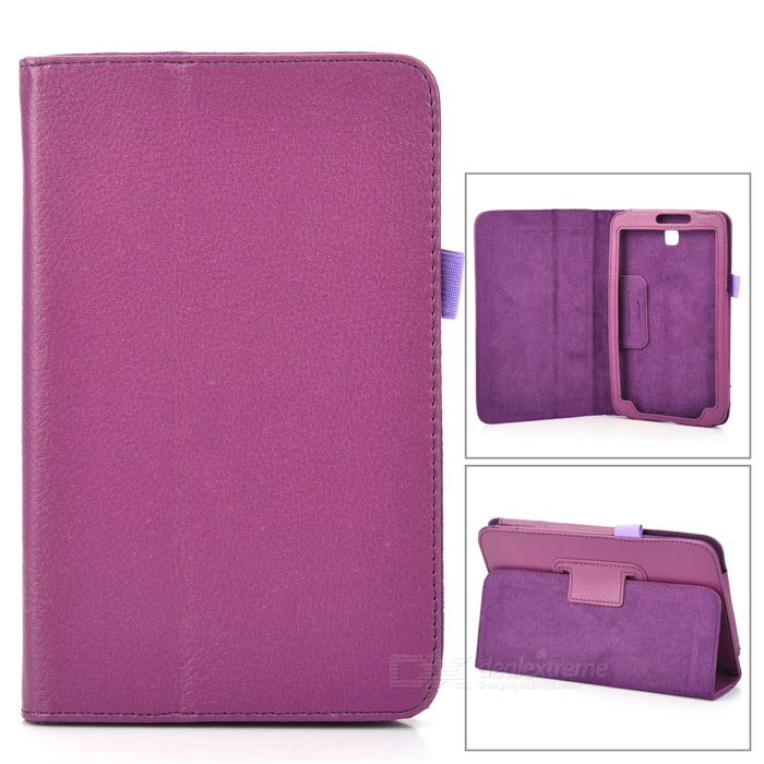 Protective PU Leather Case for Samsung Galaxy Tab 3 P3200 - Purple