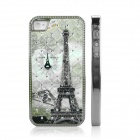 ENKAY Tower Pattern Protective Plastic Back Case for Iphone 4 / 4S - Multicolored