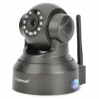 "VSTARCAM T6836WTP 1/4"" CMOS 0.3MP IP Network Camera w/ Wi-Fi / TF / 10-IR LED / Microphone - Black"