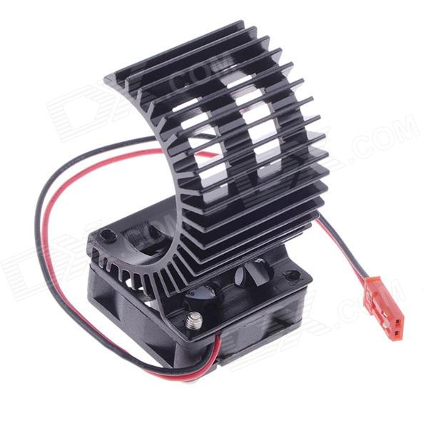 N10026 Aluminum Alloy Motor Heatsink w/ Fan for RC 540 / 550 Motor - Black 03011 rs540 26 turn 540 motor rc car hsp 1 10 scale models brushed electric motor brush for himoto redcat remote control cars