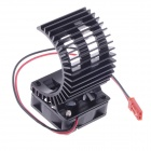 N10026 Aluminum Alloy Motor Heatsink w/ Fan for RC 540 / 550 Motor - Black